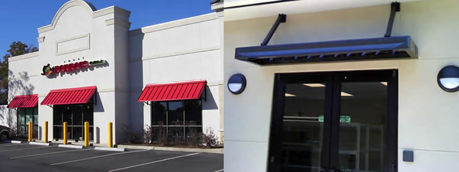 ideas concept this diy metal full entry to prices out of awnings how a awning commercial window canopy wood aluminum frame door lowes world build size