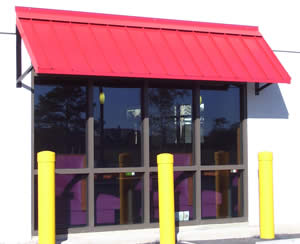 Custom metal awnings mercial and Residential Mobile area and