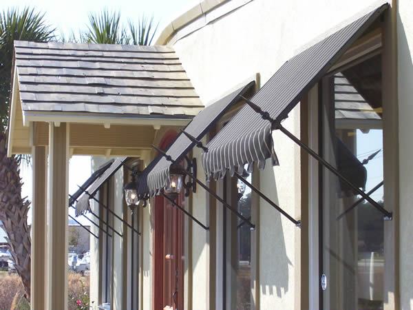 Standard And Custom Fabric Awnings Commercial And