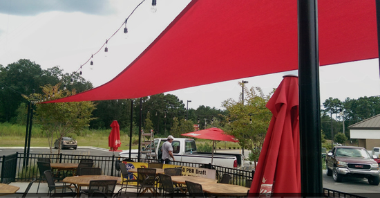 Restaurant Shade Sail