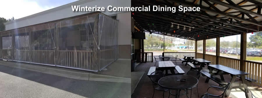 Commercial Clear Patio Enclosure
